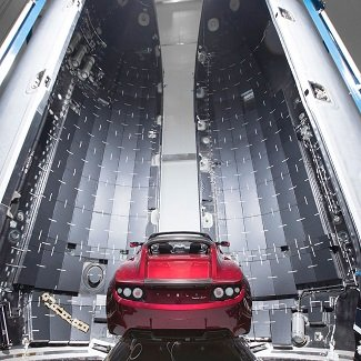 SpaceX Heavy Tesla